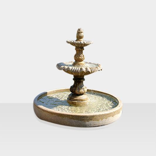 klassischer Springbrunnen