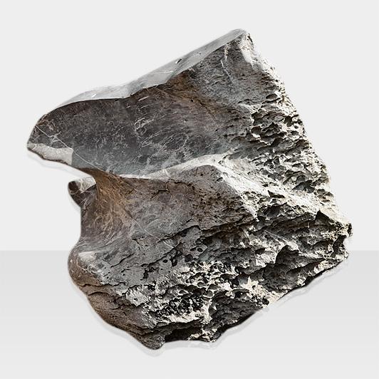 Brunnen aus Naturstein Modell Quellstein mit Schwamm-Optik