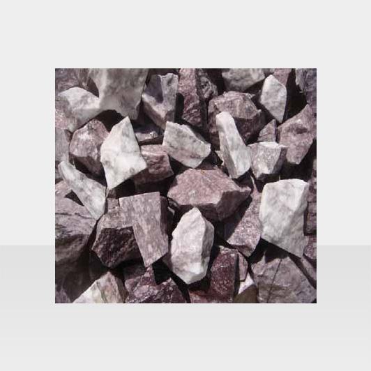 Grau-violetter Gartenkies, kantig
