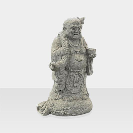 Steinfigur eines stehendes Buddhas