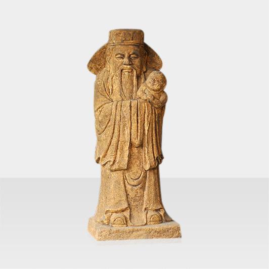 Steinfigur Konfuzius mit Kind