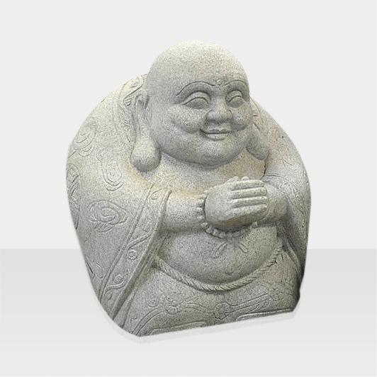 Steinfigur sitzender Buddha