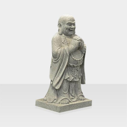 Steinfigur stehender Buddha