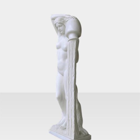 Steinfigur Frau mit Krug