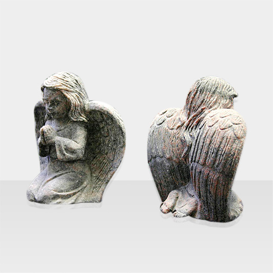 Steinfigur zwei betende Engel